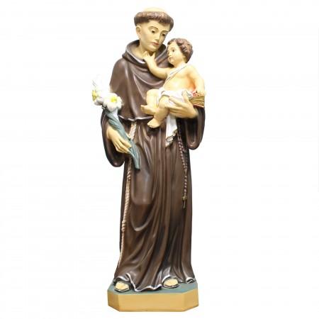 Statue de Saint Antoine grande taille en résine 80cm