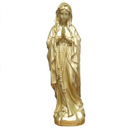 Statue de la Vierge Marie dorée en résine 68cm