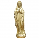 Golden Virgin Mary statue in resin 68cm