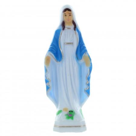 Statue de la Vierge Miraculeuse décorée en résine 15cm