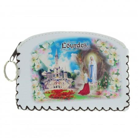 Porte monnaie de Lourdes avec une fermeture éclair