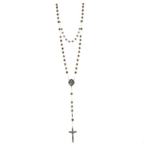 Saint Joseph Rosary with 7mm glass beads