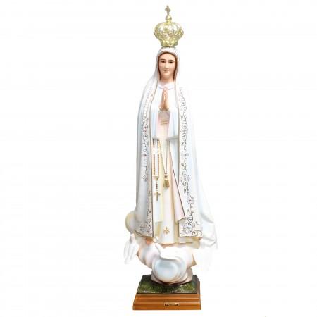 Statua della Madonna di Fatima colorata in resina 95cm