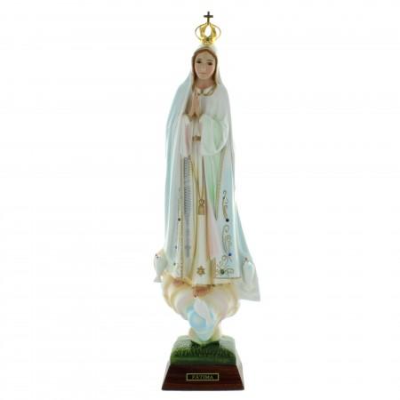 Statue de Notre Dame de Fatima en résine avec des brillants 45cm