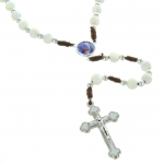 Mother of pearl Lourdes cord rosary