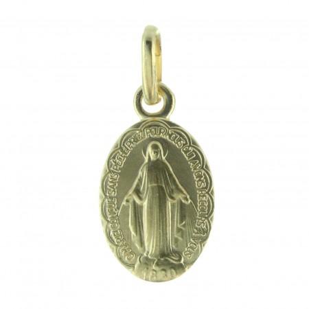 Médaille Miraculeuse festonnée en Plaqué Or 18 carats