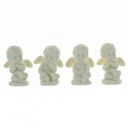 White angel resin statue 4 cm