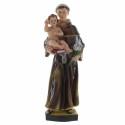 Statue de Saint Antoine à l'Enfant Jésus en résine colorée 30cm
