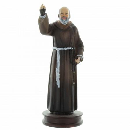 Statue de Padre Pio décorée 13cm