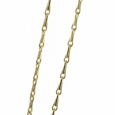 Chaîne en Plaqué Or avec une maille en épi 70cm