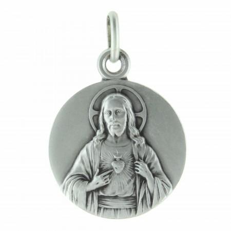 Médaille du Sacré Coeur de Jésus en Argent