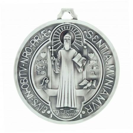 Médaille de Saint Benoît grande taille 9cm en métal