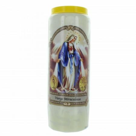 Bougie Neuvaine de la Vierge Miraculeuse 17,5cm