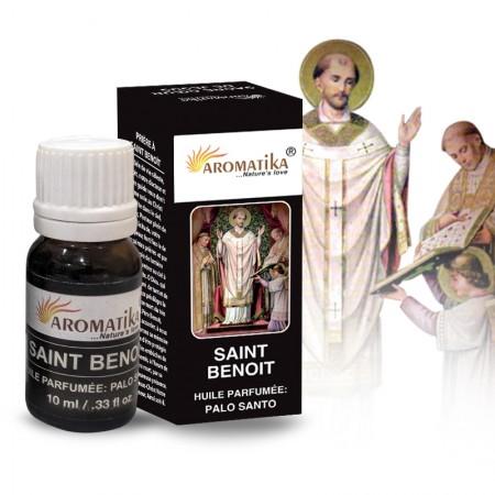 Huile essentielle religieuse Saint Benoît parfumée au Palo Santo, 10ml