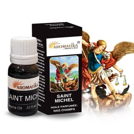 Huile essentielle religieuse Saint Michel parfumée au Nag Champa, 10ml