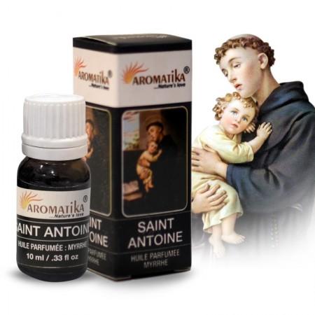 Huile essentielle religieuse Saint Antoine parfumée à la Myrrhe, 10ml
