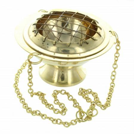 Encensoir à chaine en laiton doré 5cm