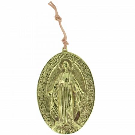 Médaillon en bronze de la Vierge Miraculeuse 9cm