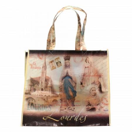 Sac de course de Lourdes avec images sépia