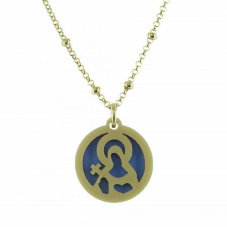 Collier religieux avec une médaille de Sainte Rita