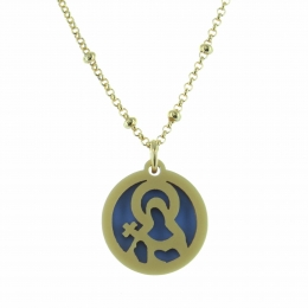 Bracelet religieux avec une médaille de Notre Dame du Mont Carmel