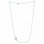 Steel rosary necklace of Our Lady of Lourdes