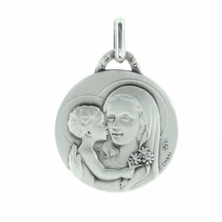 Médaille de la Vierge Marie au bouquet en Argent