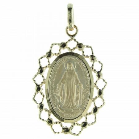 Médaille Plaqué Or 18 carats, Vierge Miraculeuse