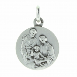 Silver Holy Family Medal