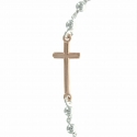 Silver bracelet with a Miraculous medal and a cross
