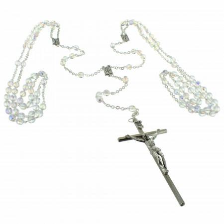 Double Chapelet de Mariage avec grains effet cristal