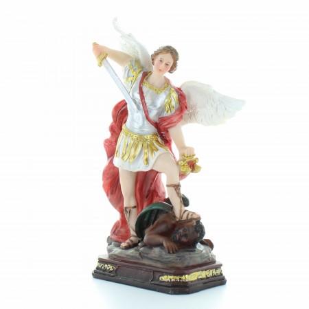 Statue de Saint Michel avec des yeux en verre 20cm
