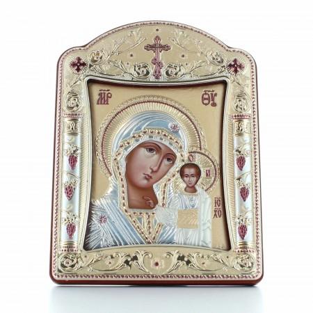 Cadre Argenté Vierge de Kazan 11x15cm