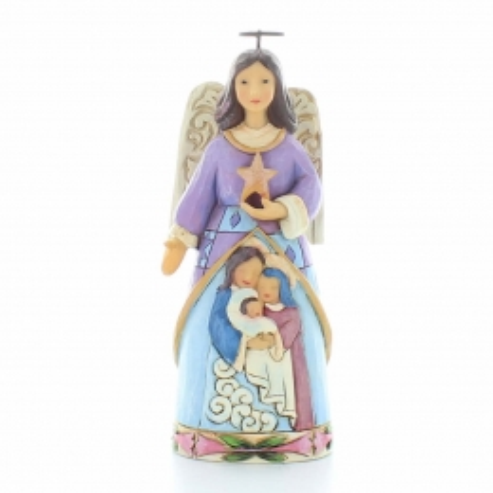 Statue d'Ange gardien en résine avec une étoile | Résine | 18,5cm