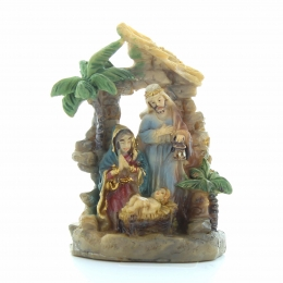Nativity scene of the Holy Family with a palm tree | Resin | 5cm