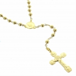 Gold plated Lourdes rosary with 5mm beads