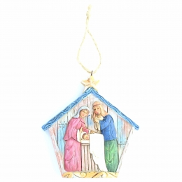 Hanging Christmas decoration of the Holy Family | Resin | 9.5cm